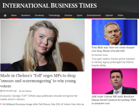Parliament Street's Georgia Toffolo interviewed by International Business Times