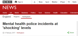 BBC Nottingham covers Parliament Street mental health research