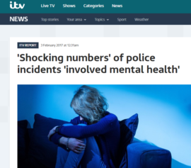 ITV News covers Parliament Street mental health research