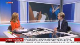 Danny Bowman discusses new mental health research on Sky News