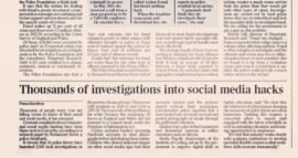 The Times covers Parliament Street Cyber Security Research