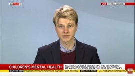 Danny Bowman speaks out on teenage suicide findings on Sky News